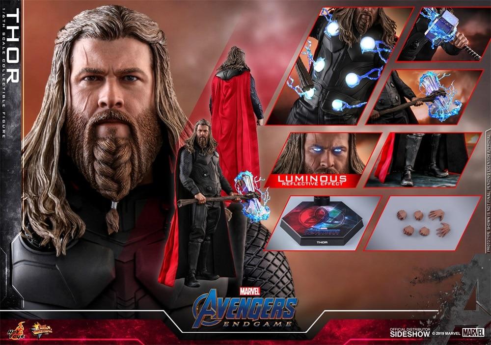 HOTTOYS MMS557 1/6 Avengers Final Battle Thor Armor Suit Luminous Ver. Figure