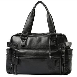Image 1 - 2020 ผู้ชายกระเป๋าไหล่Crossbodyกระเป๋าถือหนังผู้ชายกระเป๋าเดินทางกระเป๋าRetro Retroสไตล์Crossbody