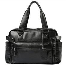 Sac à main à bandoulière en cuir pour hommes, sacs à épaule, sac de voyage style rétro britannique, grand sac de voyage, 2020