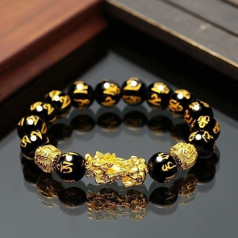 Купить 12 мм винтажный мифический китайский браслет цепочка из черного