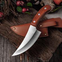 Rzeźnik nóż do trybowania serbski styl odkryty nóż myśliwski Survival Bone tasak do mięsa nóż kuchenny ze stali nierdzewnej z osłoną tanie tanio CN (pochodzenie) STAINLESS STEEL Ekologiczne Zaopatrzony AE4-LJH-022 Ce ue Lfgb Trybowanie noże