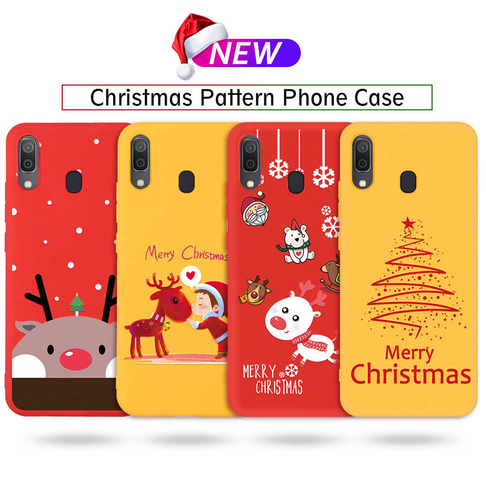 Merry Christmas Cartoon Case For Samsung Galaxy A70 A40 A30 A20 Silicone Coloful Cute Pattern Cover for Galaxy A50 A10 TPU Capa