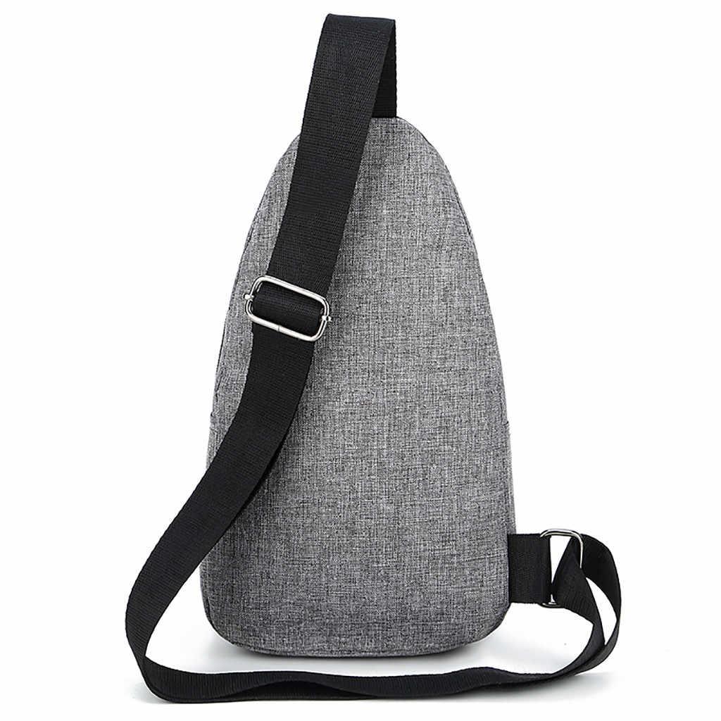 Männer Brust Taschen 2019 Neue Männer Oxford Tuch Abzeichen Schulter Tasche Wilde Kleine Tasche Mode Taschen Männlichen Business Reise Schulter tasche
