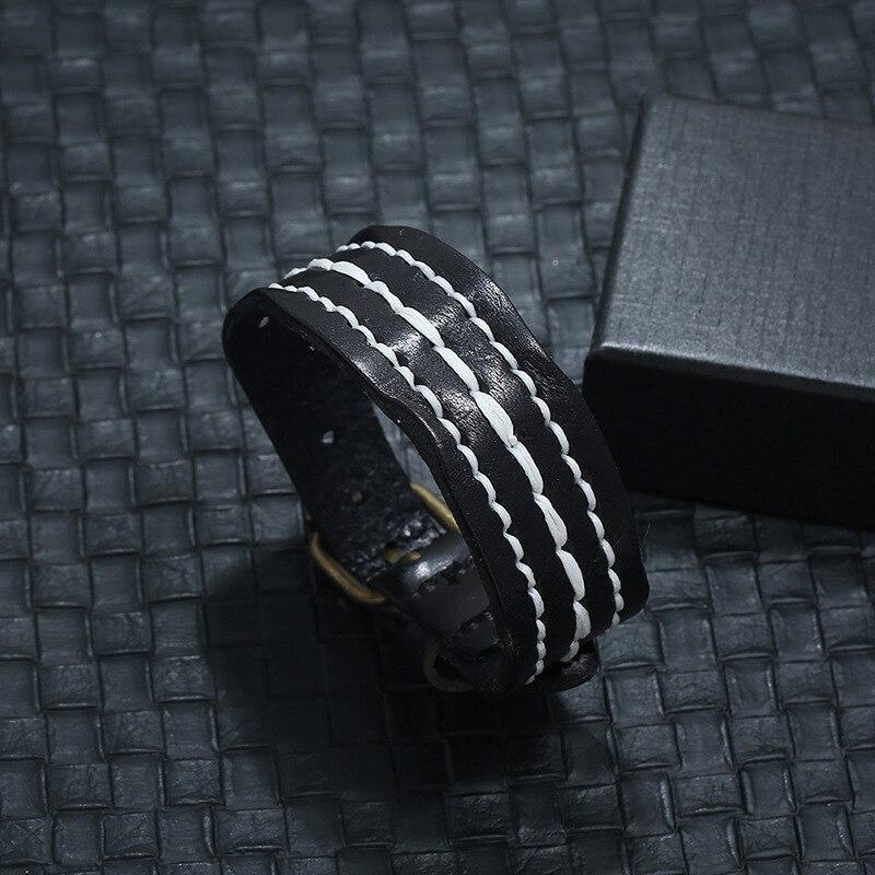 leather bracelet for men P01893-3