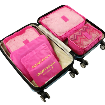 6pcs Travel Home Clothes Quilt Blanket Storage Bag Set Shoes Partition Tidy Organizer Wardrobe Suitcase Pouch Packing Cube Bags