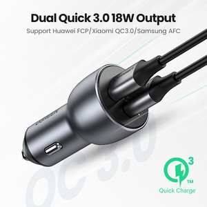 Image 2 - Ugreen Quick Charge 3.0 36W QC Car Charger for Samsung S10 9 Fast Car Charging for Xiaomi iPhone QC3.0 Mobile Phone USB Charger