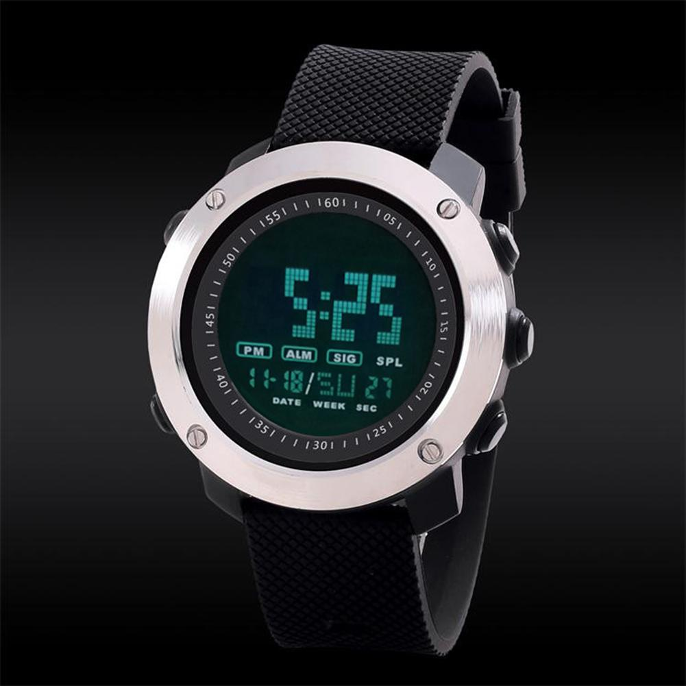 Multifunction Waterproof Outdoor Sports Watch Male LED Digital Stainless Steel Digital Wrist Watch Plexiglass Mirror Reloj Hombr