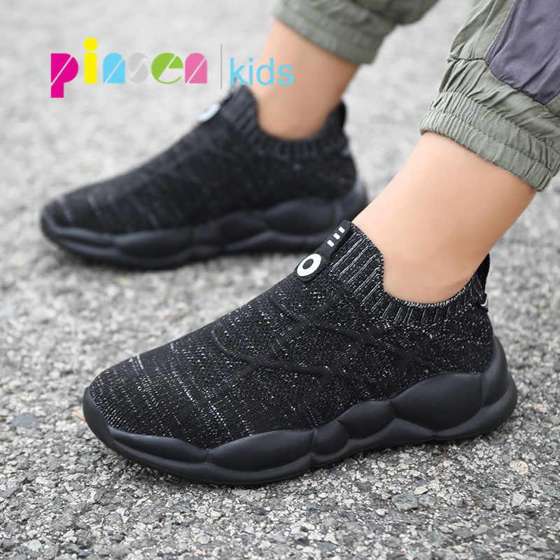 2020 bahar çocuk ayakkabı erkek ayakkabı moda çocuk ayakkabı örgü nefes çocuk çorap ayakkabı erkek rahat ayakkabılar Shoes Enfant