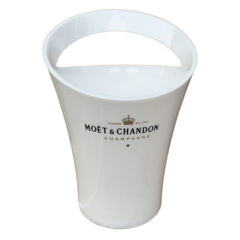 New Fashion 3L Acrylic White Ice Buckets Wine Coolers Wine Holder for Moet Chandon Red Wine Beer Party Bucket(China)