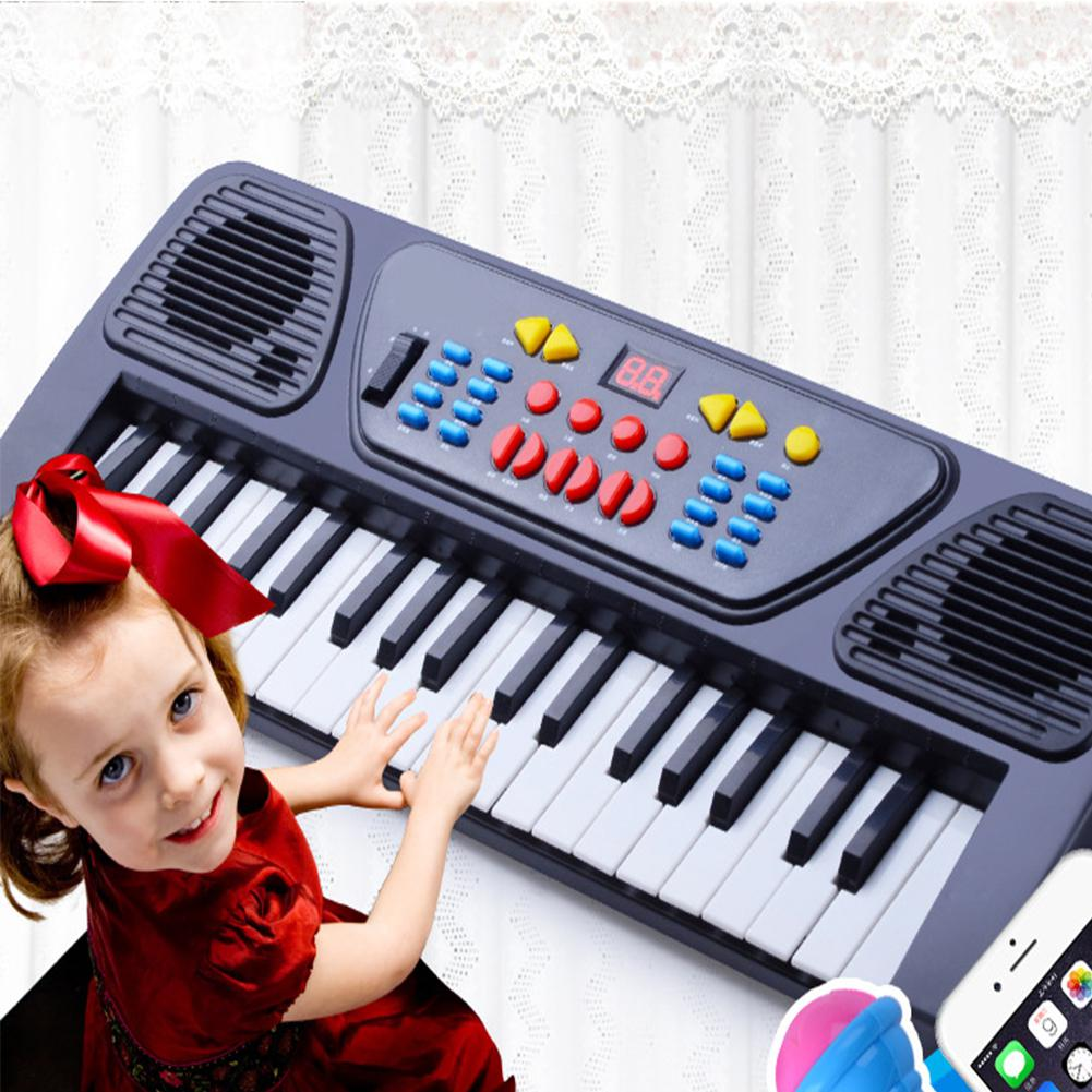 HobbyLane Mini 37-Key Electronic Keyboard Piano Toy With Microphone Music Intellectual Toy