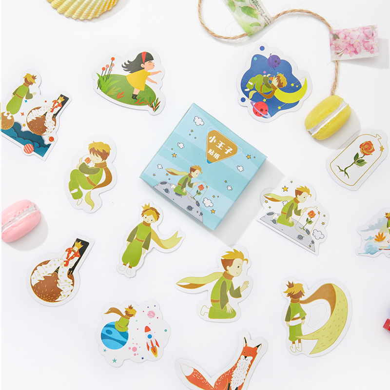 45Pcs/Pack Little Prince Sticky Stickers Decoracion Boxed Scrapbooking DIY Office Stationery School Supplies