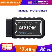 ELM327 V1.5 Wifi/Bluetooth с PIC18F25K80 на Android/IOS Elm 327 считыватель кодов OBD II wifi bluetooth автомобильный диагностический инструмент obd2