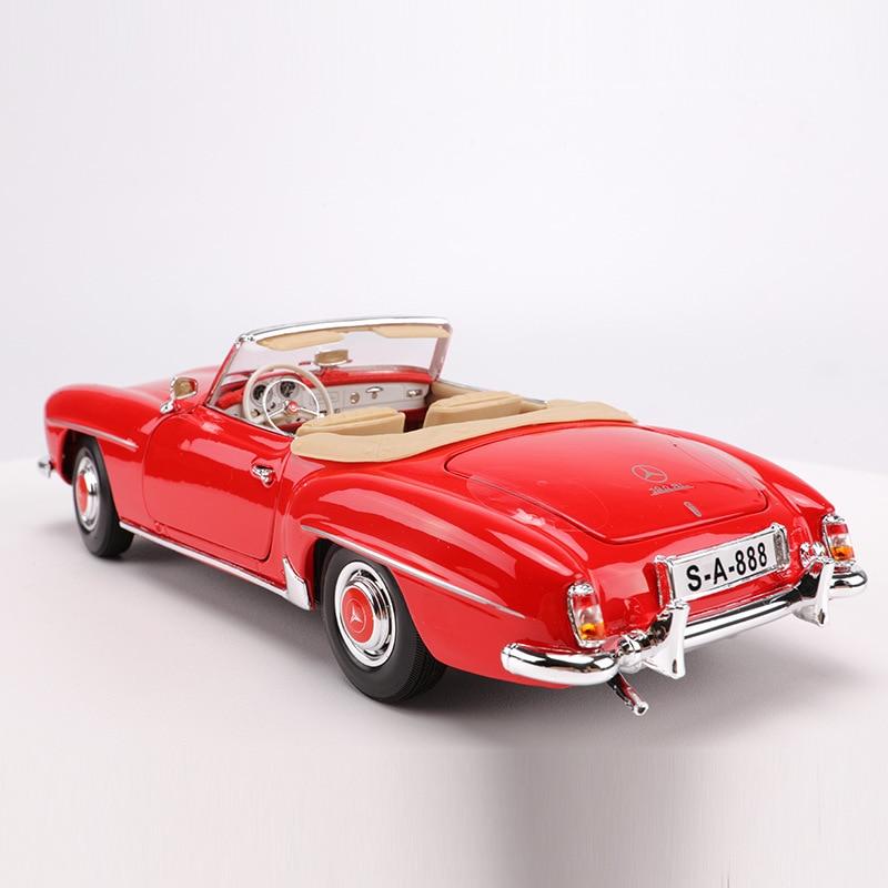 Maisto 1: 18 Model Alloy Car Model 1955 Mercedes 190SL Car Model Retro Vintage Car Toy High Simulation Toy Gift Collection