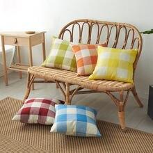 Льняная наволочка 40x40 декоративная для подушки гостиной дивана