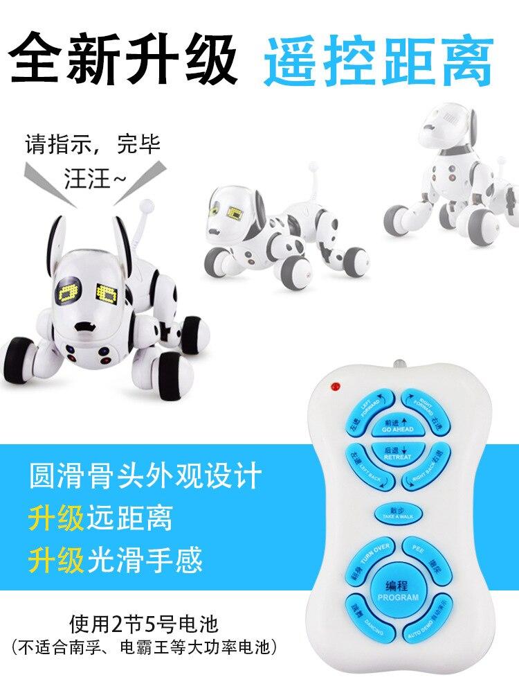 Intelligent Robot Dog People Remote Control Talk Will Walk Singing Puppy Dog Boy Daughter Toys For Children 1-2-3-6-Year-Old