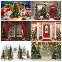 Yeele-fondo fotográfico para estudio fotográfico, telón de fondo para sesión fotográfica, chimenea, retrato de Bebé y Niño, regalo de Merry Christmas árbol