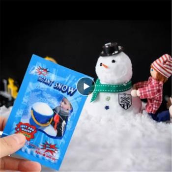 1 5 10 sztuk sztuczny śnieg błoto dodatek magiczny sztuczny śnieg w proszku śnieg Super materiały świąteczne pianki błoto dekoracji zabawki tanie i dobre opinie CN (pochodzenie) Proszku śniegu Christmas Decor Absorbent resin About 9*6 5cm 1 X Fake Instant Snow