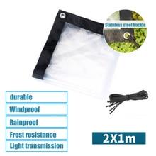 Transparent Rainproof Shed Cloth Tarpaulin Lightweight Waterproof Tarp Cover Tent Shelter  HY99