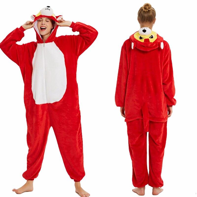 Image 3 - Пижамы кигуруми с животными для женщин и мужчин, зимние фланелевые пижамы единорог, собака, панда, Лев, Комбинезоны для взрослых, теплая одежда для сна     АлиЭкспресс