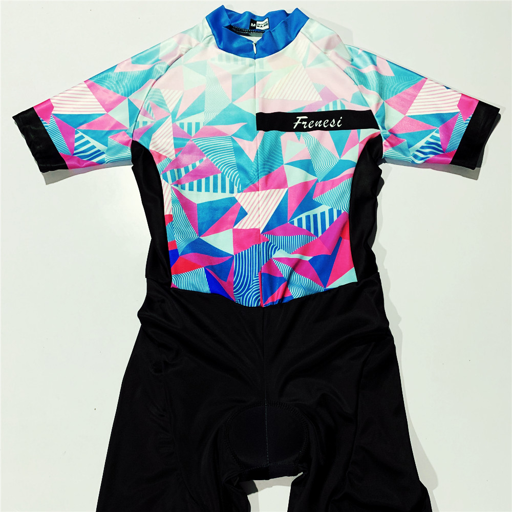 2019 frenesi Women/'s Cycling spee Skinsuit Pro Racing Jumpsuit Lycra Conjoined