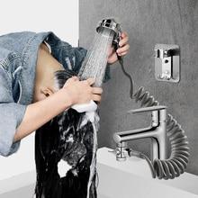 External Shower Faucet Holder Artifact Wash Hair Pet Washer Bathroom Kitchen Basin Tap Filter Flexible Hose Bidet Spray Gun