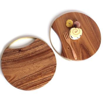 Creative Whole Wood Kitchen Cutting Board Solid Wood Fruit Chopping Board Bread steak cutting Tray Unpainted