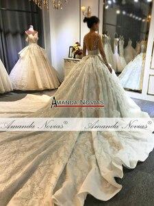 Image 3 - Amanda Novias robe de mariée sur mesure, robe de mariée luxueuse, design, bonne qualité, 2020