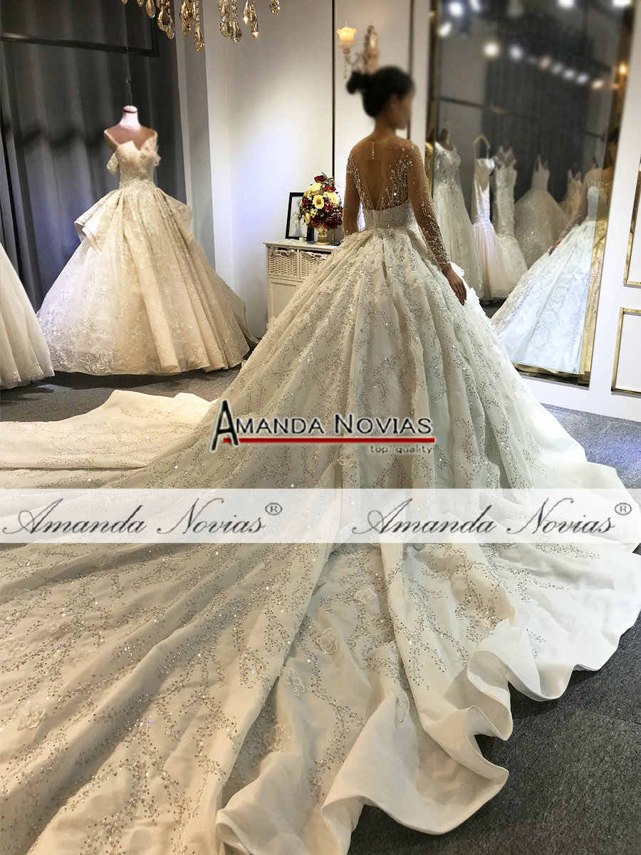 Amanda Novias wysokiej jakości suknia ślubna szyta na zamówienie sukienka 2020 projekt luksusowa suknia ślubna