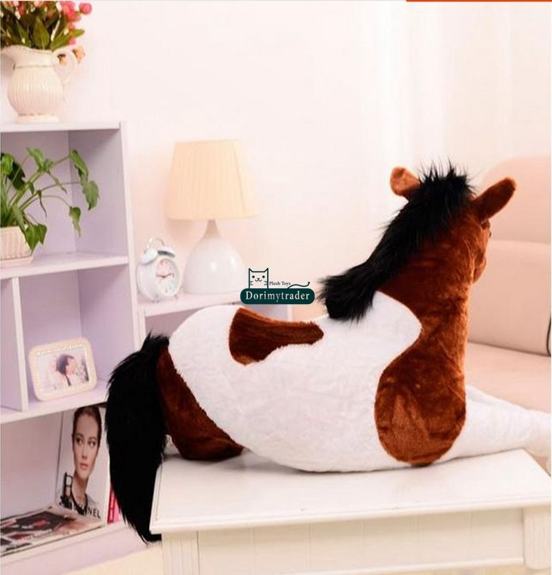 130cm X 60cm Riesen Soft Horse Plüsch Emulational Ausgestopften Tiere Spielzeug Puppe Geschenk Nette Plüsch Spielzeug Stich - 3