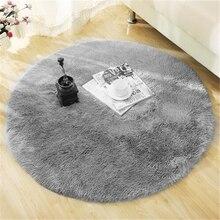 Пушистый круглый ковер ковры для гостиной Декор ковры из искусственного меха детская комната длинные плюшевые Коврики для спальни мохнатый ковер современные коврики
