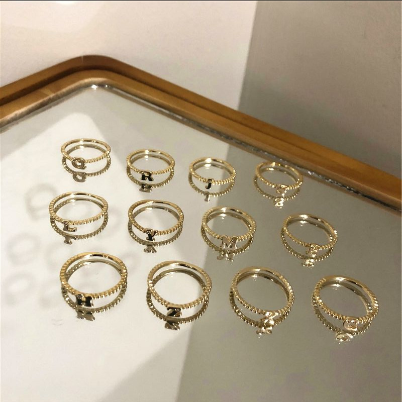 Hot Sale Simple Diy Letters Rings Adjustable Engagement Rings For Women Exquisite Jewelry Wedding Rings Female Accessories Gift Buy At The Price Of 2 10 In Aliexpress Com Imall Com