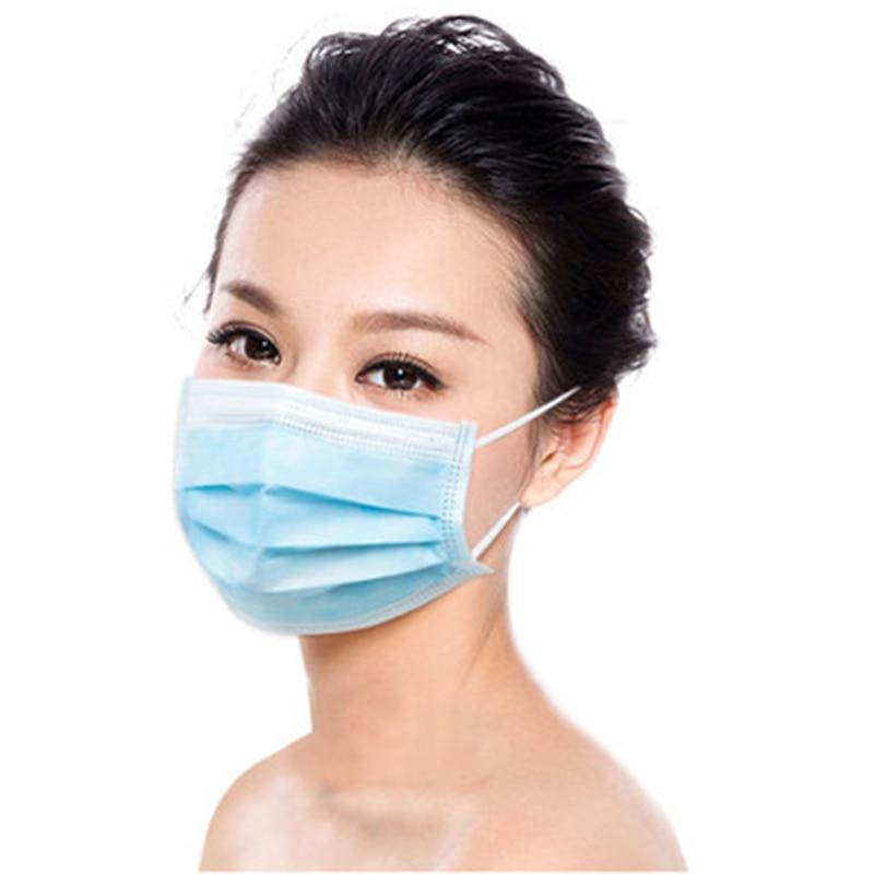 50 Pcs Vietnam Mask Anti-bacterial Mask Solid Color Mask One Size Mask Prevent Virus Mask Disposable Mask Dustproof Mask