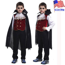Umorden Gothic Count Dracula Vampire Costumes Boys Children Vampira Cosplay Halloween Carnival Party Mardi Gras Fancy Dress