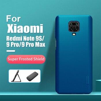 For xiaomi redmi note 9s case 6.67'' NILLKIN Frosted PC Matte hard back cover Gift Holder redmi note 9 pro redmi note 9 pro max