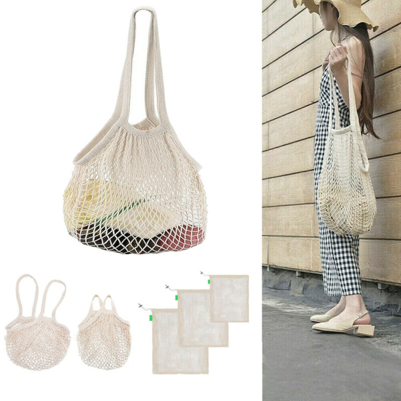 Mesh Net Turtle Bag String Shopping Bag Reusable Fruit Storage Handbag Totes  Storage Bags  Shopping Bags