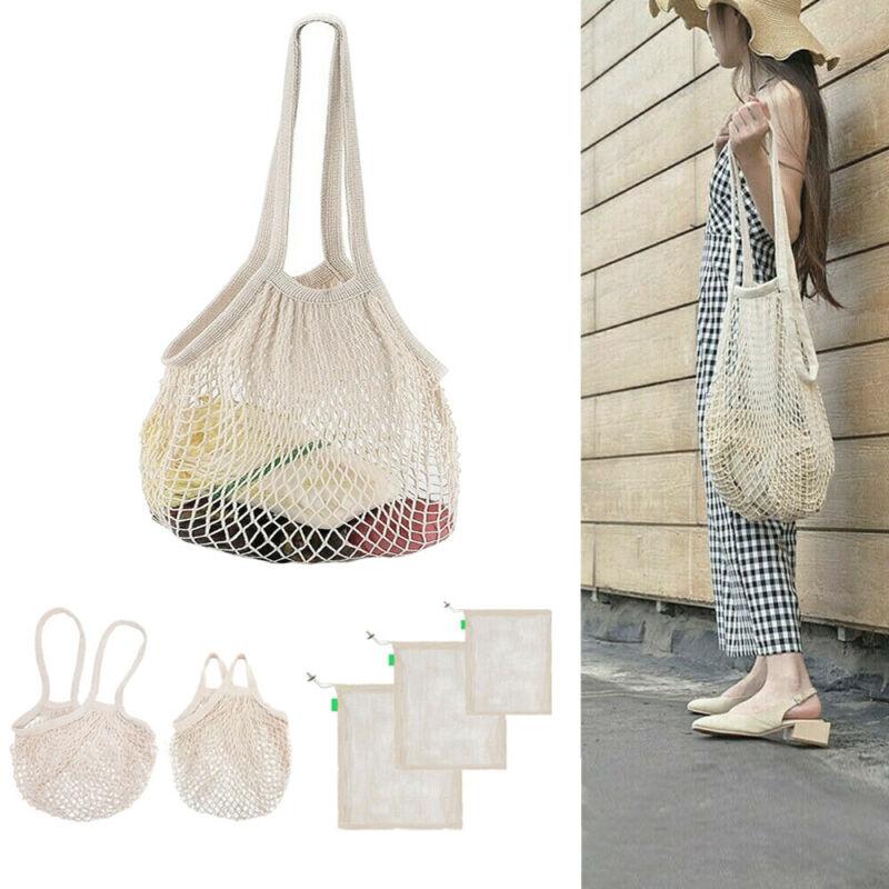Mesh Net Turtle Bag String Shopping Bag Reusable Fruit Storage Handbag Totes  Storage Bags  Shopping Bags