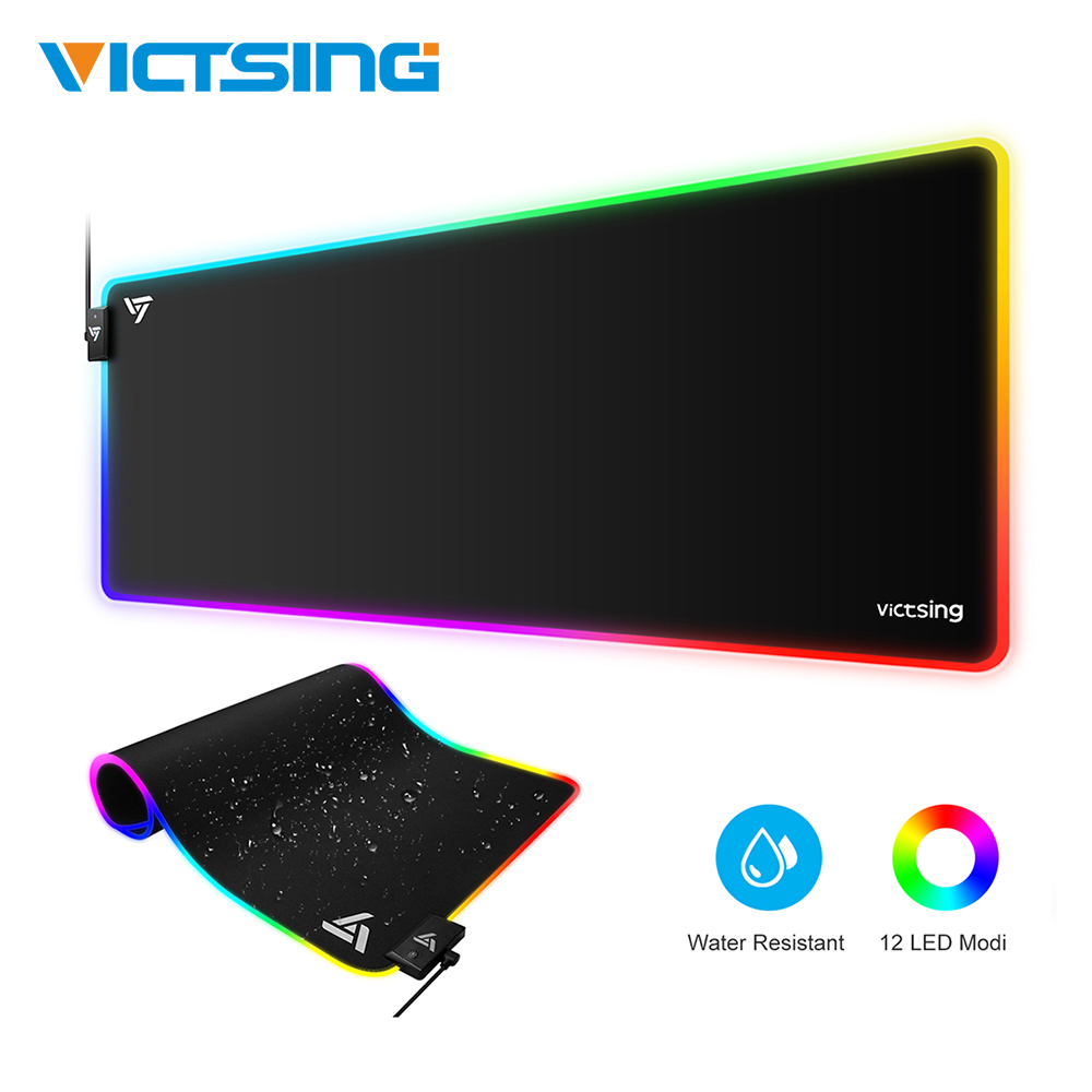 VicTsing PC247 RGB Mouse Pad Large Gaming Mousepad XXL Waterproof Non-slip Rubber Base Desk Mat For PC Laptop Mouse Pad Gamer
