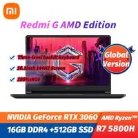 2021 NEW Xiaomi Redmi G Gaming Laptop 16.1Inch GeForce RTX3060 GPU AMD Ryzen 7 5800H 16GB DDR4+512GB SSD Notebook 144HZ Wifi6 PC 1
