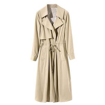 19 autunno nuovo a lungo popolare legame della vita sottile delle donne boutique femminile giacca a vento