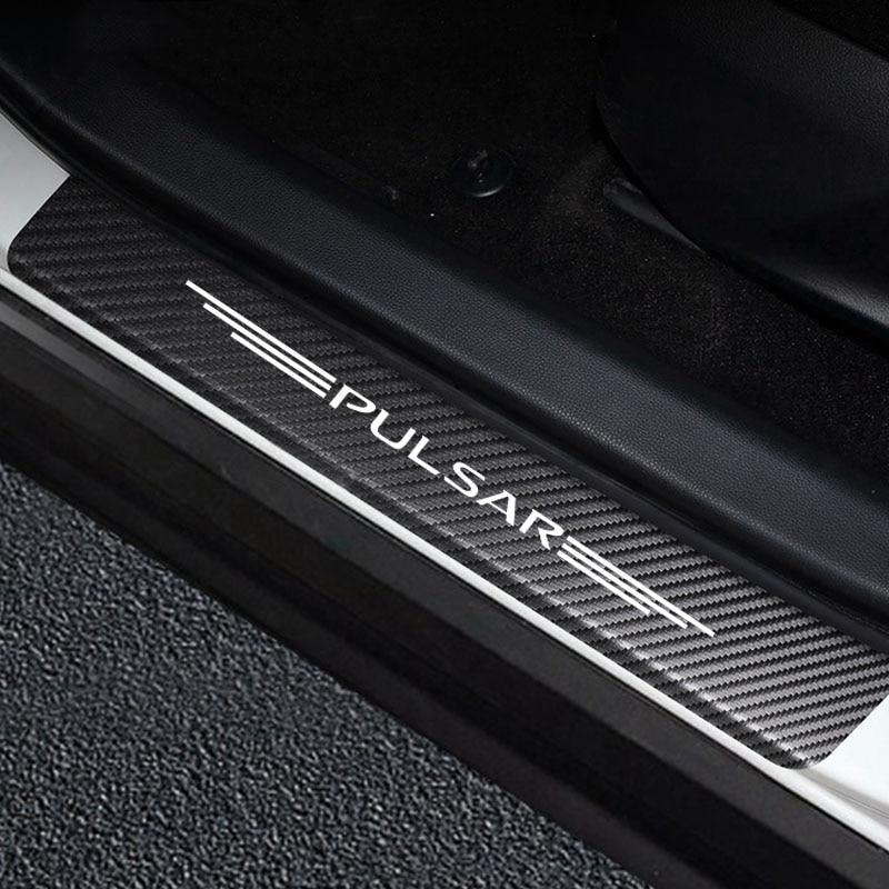 Автомобильные наклейки на порог двери, Виниловый протектор для NISSAN PULSAR, Накладка на порог автомобиля, защитная накладка, аксессуары для дек...