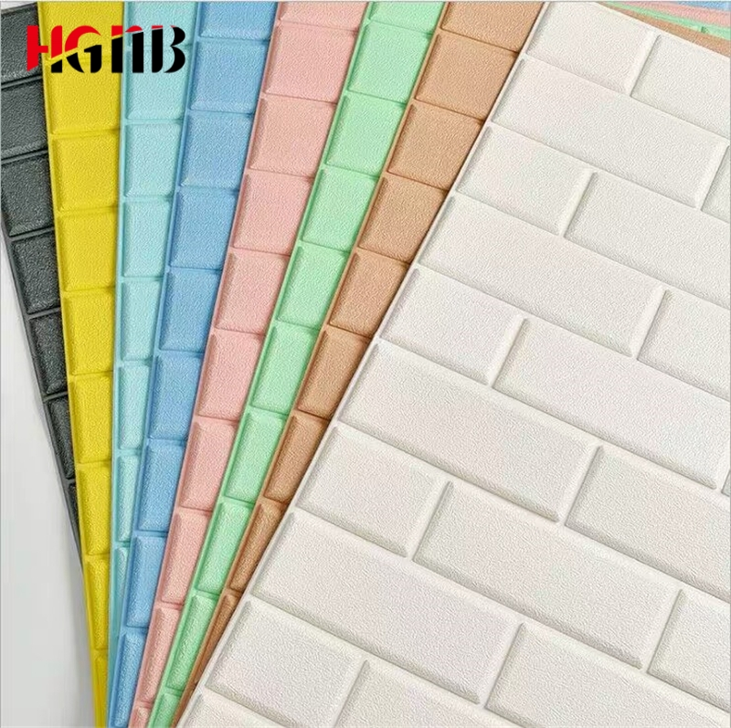 3D Wall Stickers Living Room 3D Brick Wallpaper For Kids Room Bedroom Home Decor 3D Wall Covering Self Adhesive Wall Paper