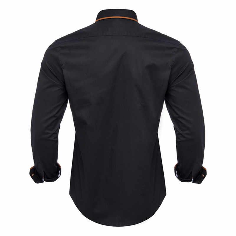 Visada Juana 2019 Baru 100% Kapas Pria Kemeja Lengan Panjang Kemeja Kasual Pria Slim Fit Mens Kemeja Camisas Masculina E-store Prince