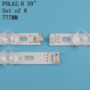 """Image 5 - 8 pcs LED backlight strip 9Lamp For LG 39"""" TV LG 39LN5100 INN0TEK POLA2.0 39 39LN5300 39LA620S POLA 2.0 39LN5400 HC390DUN VCFP1"""