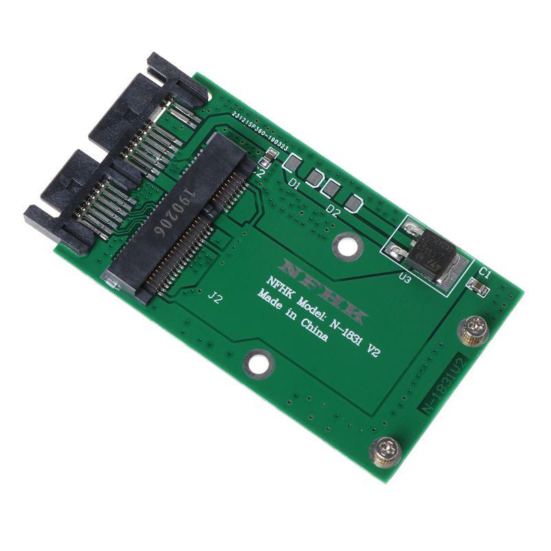 """Mini Pcie Pci-e mSATA SSD to 1.8/"""" Micro SATA Adapter Converter Card S!"""