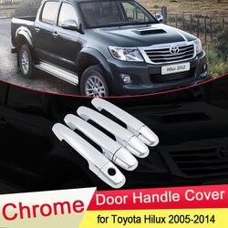 Для Toyota Hilux AN10 AN20 AN30 SR5 2005 ~ 2014 хромированная крышка дверной ручки отделка Роскошная Кепка для автомобиля набор стильных аксессуаров ABS