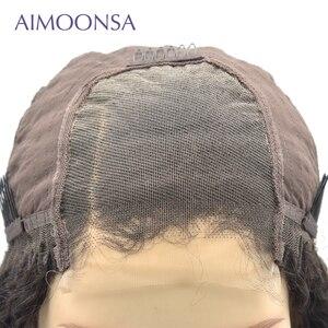 Image 5 - 4x4 dantel kapatma peruk bordo dantel ön peruk 130% renkli gölgeli insan saçı peruk kızıl saç düz 1B/99J kadınlar için remy