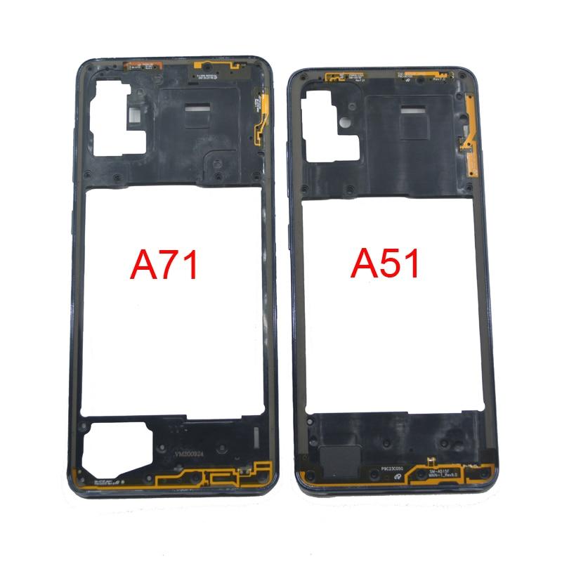 Новая средняя рамка для Samsung Galaxy A51 A71 A515 A515F A715 A715F, оригинальный корпус для телефона, крышка с центральной рамой и кнопками A51 A71