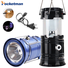 цена на Portable Camping Light Rechargeable Lantern Outdoor Tent Light Solar Power Collapsible Lamp Flashlight Emergency Light Torch