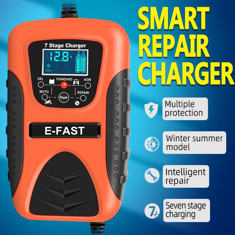 Зарядное устройство для аккумуляторов 12 В для автомобилей и мотоциклов, свинцово-кислотный гель для ухода