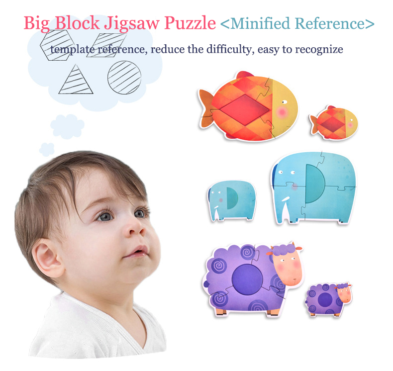 Toddlers' Jigsaw Puzzle Series - Animals/Traffic